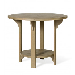 "Amish Poly Round 48"" Bar Height Table"