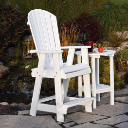 Amish Poly Bar Height Balcony Chair