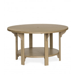 "Amish Poly Round 60"" Counter Height Table"