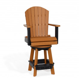 Amish Poly Swivel Bar Chair