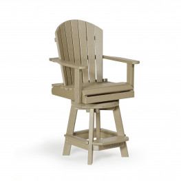 Amish Poly Wood Balcony Swivel Chair