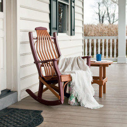 Amish Poly Wood Hickory Rocking Chair