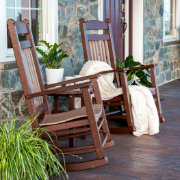 Amish Poly Lumbar Rocker Set