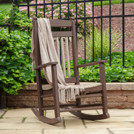 Amish Poly Wood Lumbar Rocking Chair