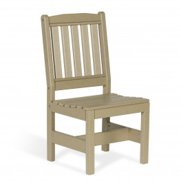 Amish Poly Wood Garden Chair w/o Arms