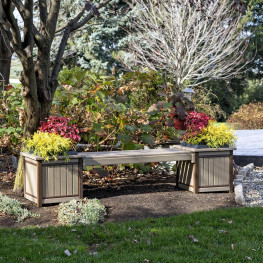 Amish Poly Wood Planter Bench