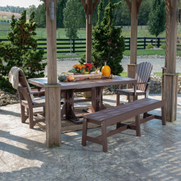 Luxcraft/Crestville Adirondack Farmhouse 5pc Dining Set