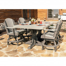 Luxcraft / Crestville Swivel 5 Pc Dining Set