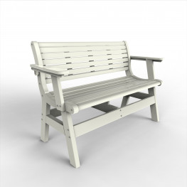 Malibu Outdoor Newport 48 in Bench with Back and Arms
