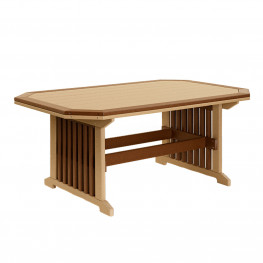 Amish Poly 46in w x 48in d x 30in h Mission Table with Borde