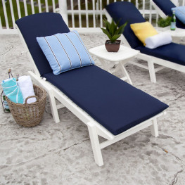 POLYWOOD® Nautical Chaise with Wheels
