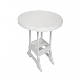 Casual Comfort Poly Lumber 28in Oceanside Bar Table - Round