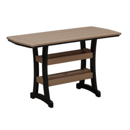 Casual Comfort Poly Lumber 28 x 60 Bayshore Counter Table
