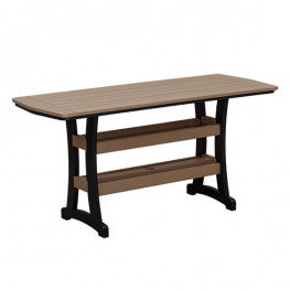 Casual Comfort Poly Lumber 28 x 72 Bayshore Counter Table