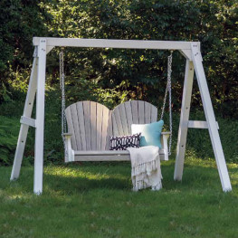 Casual Comfort Poly Lumber A-Frame For Swing-White Only
