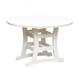 Casual Comfort Poly Lumber Bayshore 48in Dining Table - Round