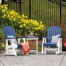 Casual Comfort Poly Lumber Bridgeport 2 ft Glider Set