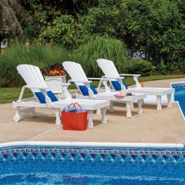 Casual Comfort Poly Lumber Oceanside 3pc Chaise Lounge Set