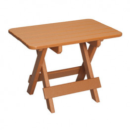 Casual Comfort Poly Lumber Rectangle Folding Table
