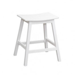 Casual Comfort Poly Lumber Saddle Barstool Counter