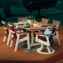 Casual Comfort Poly Lumber Wavz 7pc Dining Set
