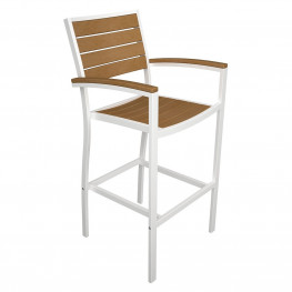 POLYWOOD  Euro Bar Arm Chair with Plastique