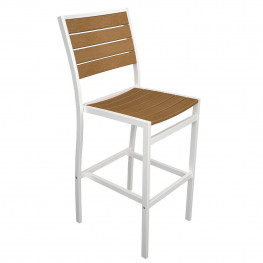 POLYWOOD Euro Bar Side Chair with Plastique