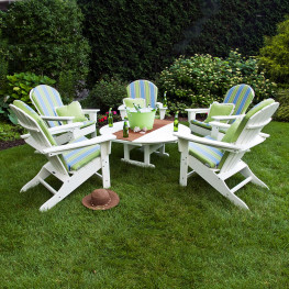 POLYWOOD® South Beach Conversation Set with Cushions