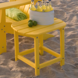 POLYWOOD South Beach Side Table - Vivid Colors