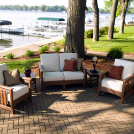 POLYWOOD® 5 Piece Outdoor Living Patio Set