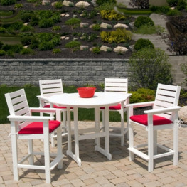 POLYWOOD Captains Counter 25in Bistro Set