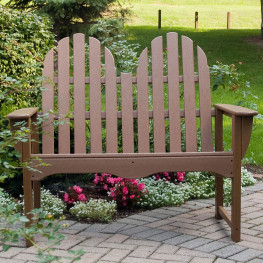 POLYWOOD Classic Adirondack 48 In Bench