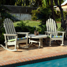 POLYWOOD Classic Adirondack Rocking Chair Seating Set