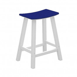 POLYWOOD Contempo 24 in Saddle Bar Stool