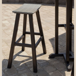 POLYWOOD Contempo 30 in Saddle Bar Stool