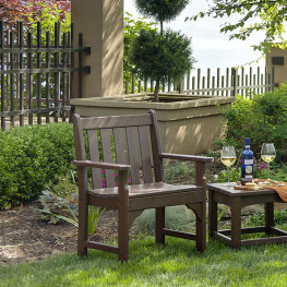 POLYWOOD Garden Vineyard Arm Chair