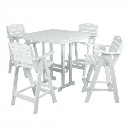 POLYWOOD Nautical Bar Table Set