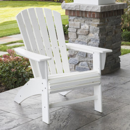 POLYWOOD Nautical Curveback Adirondack Chair