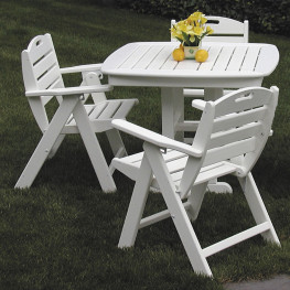 POLYWOOD Nautical Lowback Chair