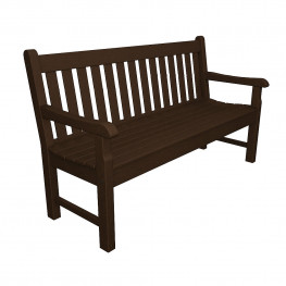 outdoor p benches polywood in slate the patio chippendale bench grey