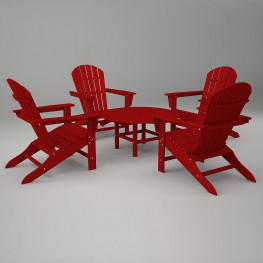 POLYWOOD South Beach 5 Piece Seating Set
