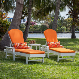 POLYWOOD® South Beach Chaise Set with Cushions