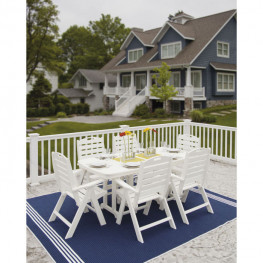 POLYWOOD® Nautical 7-Piece Dining Set