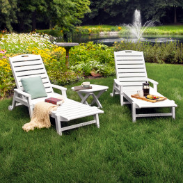 POLYWOOD® Nautical 3-Piece Chaise Set