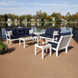 POLYWOOD® Vineyard 6-Piece Deep Seating Set