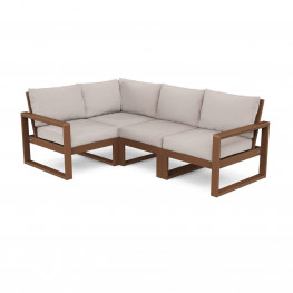 POLYWOOD® EDGE 4-Piece Modular Deep Seating Set