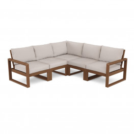 POLYWOOD® EDGE 5-Piece Modular Deep Seating Set