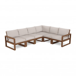 POLYWOOD® EDGE 6-Piece Modular Deep Seating Set