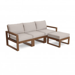 POLYWOOD® EDGE 4-Piece Modular Deep Seating Set with Ottoman