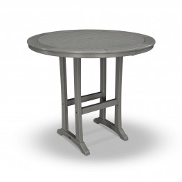 POLYWOOD® Nautical Trestle 48in Round Bar Table
